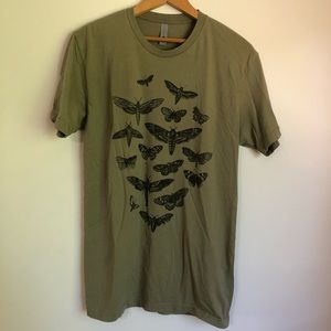 Next Level Apparel Moth T-shirt